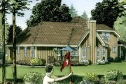 Country Style House Plan - 4 Beds 3 Baths 2016 Sq/Ft Plan #312-529 Exterior - Other Elevation