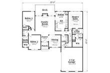 Traditional Floor Plan - Main Floor Plan Plan #419-111