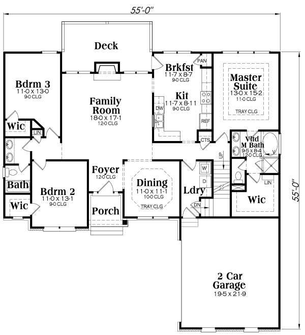 Traditional Floor Plan - Main Floor Plan Plan #419-111