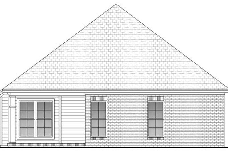 Country Exterior - Rear Elevation Plan #430-51 - Houseplans.com