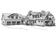 Log Style House Plan - 4 Beds 5 Baths 4456 Sq/Ft Plan #451-16 Exterior - Front Elevation