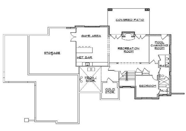 Traditional Floor Plan - Lower Floor Plan Plan #5-270