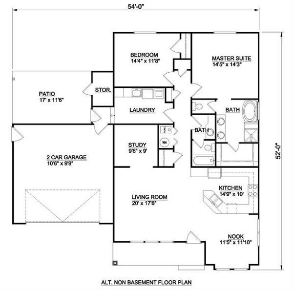 Bungalow Floor Plan - Other Floor Plan Plan #116-281