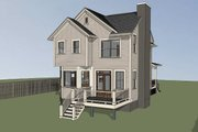Craftsman Style House Plan - 4 Beds 3 Baths 1646 Sq/Ft Plan #79-304 Exterior - Other Elevation
