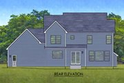 Traditional Style House Plan - 4 Beds 2.5 Baths 2334 Sq/Ft Plan #1010-224 Exterior - Rear Elevation