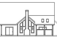 Home Plan - Traditional Exterior - Rear Elevation Plan #124-365