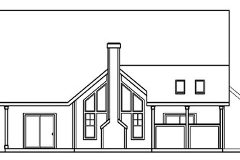 Traditional Exterior - Rear Elevation Plan #124-365 - Houseplans.com