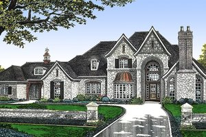 European Exterior - Front Elevation Plan #310-236