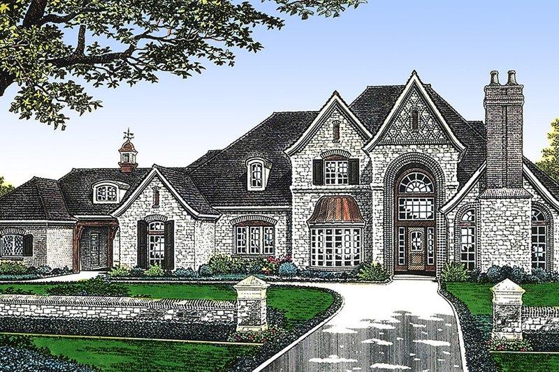 Home Plan - European Exterior - Front Elevation Plan #310-236