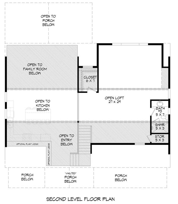 Country Floor Plan - Upper Floor Plan Plan #932-87
