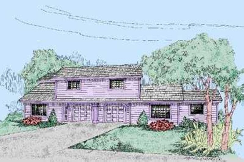 Traditional Exterior - Front Elevation Plan #60-474 - Houseplans.com