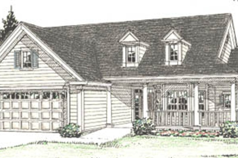 Traditional Exterior - Front Elevation Plan #20-382