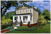 Cottage Style House Plan - 3 Beds 2.5 Baths 1740 Sq/Ft Plan #30-101 Exterior - Other Elevation
