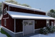 Farmhouse Style House Plan - 1 Beds 2 Baths 880 Sq/Ft Plan #1060-82 Exterior - Other Elevation
