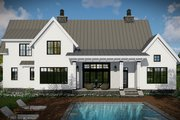 Farmhouse Style House Plan - 4 Beds 3.5 Baths 2528 Sq/Ft Plan #51-1130 Exterior - Rear Elevation