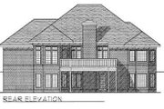 European Style House Plan - 2 Beds 2 Baths 1916 Sq/Ft Plan #70-492 Exterior - Rear Elevation
