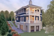 Contemporary Style House Plan - 5 Beds 3.5 Baths 3193 Sq/Ft Plan #926-4 Exterior - Rear Elevation