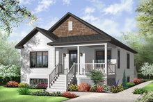 Home Plan - Country Exterior - Front Elevation Plan #23-2377