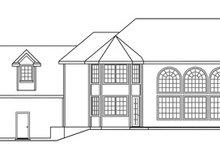 Dream House Plan - European Exterior - Rear Elevation Plan #124-324