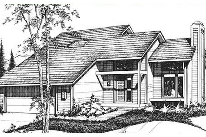 Traditional Style House Plan - 4 Beds 2 Baths 1564 Sq/Ft Plan #320-302 Exterior - Front Elevation