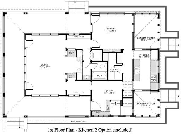 Country Floor Plan - Main Floor Plan #917-13