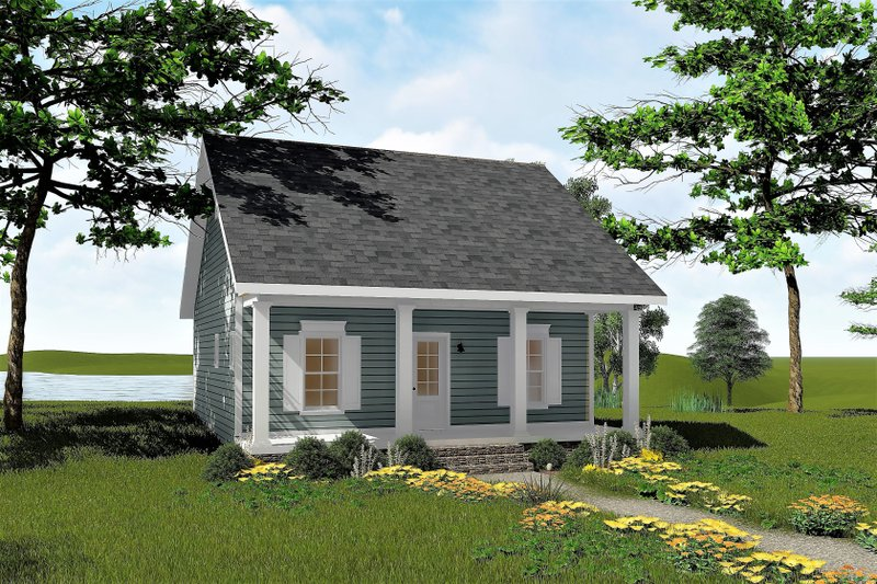 Country Style House Plan - 2 Beds 1 Baths 992 Sq/Ft Plan #44-191 Exterior - Front Elevation