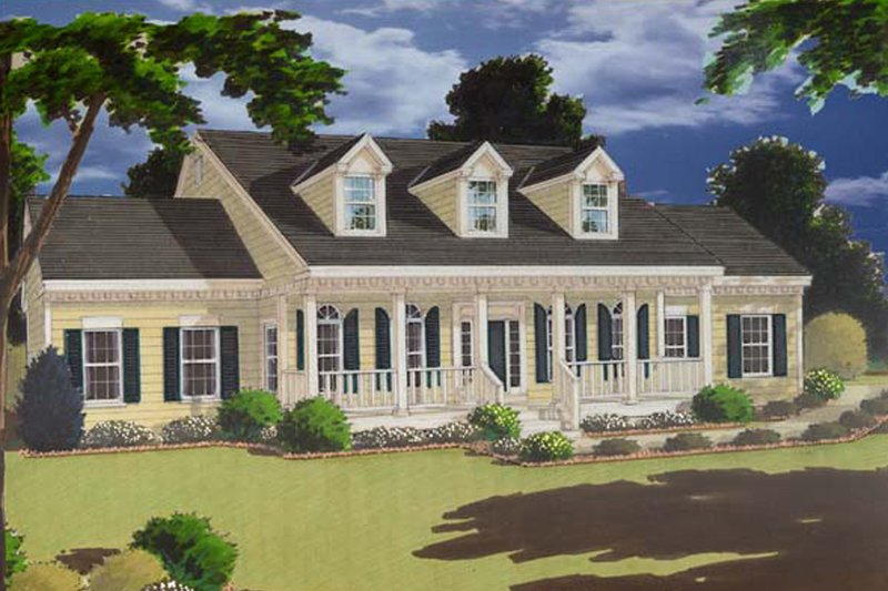 Colonial Exterior - Front Elevation Plan #3-262