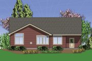 Craftsman Style House Plan - 3 Beds 2 Baths 1800 Sq/Ft Plan #48-414 Exterior - Rear Elevation