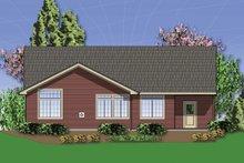 Craftsman Exterior - Rear Elevation Plan #48-414