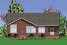 Dream House Plan - Craftsman Exterior - Rear Elevation Plan #48-414