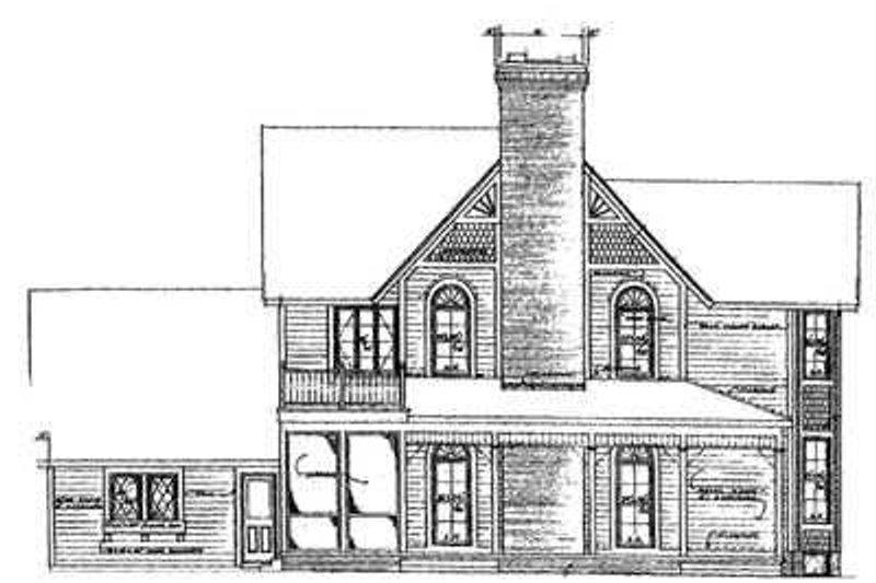 Farmhouse Exterior - Rear Elevation Plan #72-186 - Houseplans.com