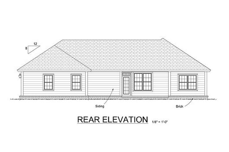 Country Exterior - Rear Elevation Plan #513-8 - Houseplans.com