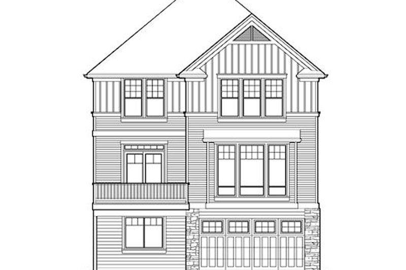 Traditional Exterior - Rear Elevation Plan #48-512 - Houseplans.com