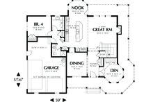 Victorian Floor Plan - Main Floor Plan Plan #48-108