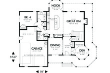 Victorian Floor Plan - Main Floor Plan Plan #48-108