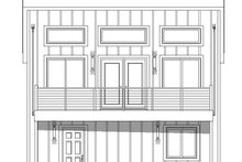 House Plan Design - Contemporary Exterior - Rear Elevation Plan #932-181