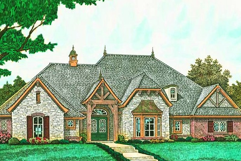 House Plan Design - European Exterior - Front Elevation Plan #310-1279
