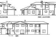 Mediterranean Style House Plan - 4 Beds 3.5 Baths 3249 Sq/Ft Plan #60-529 Exterior - Rear Elevation