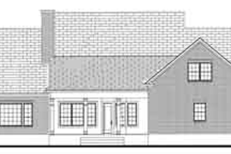 Southern Exterior - Rear Elevation Plan #406-121 - Houseplans.com