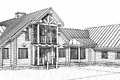 Log Style House Plan - 5 Beds 4 Baths 3867 Sq/Ft Plan #451-2 Exterior - Rear Elevation