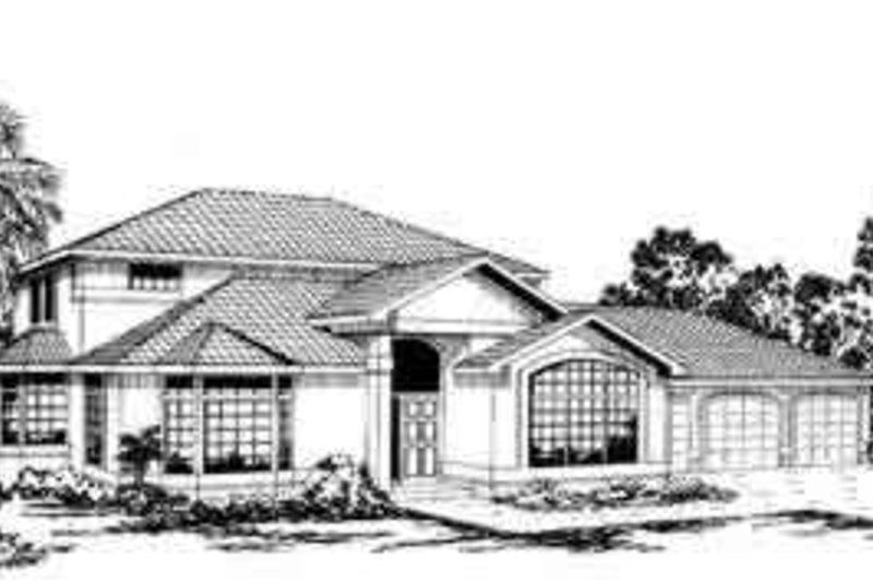 Mediterranean Exterior - Front Elevation Plan #124-231 - Houseplans.com