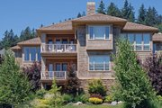 Craftsman Style House Plan - 4 Beds 5 Baths 5949 Sq/Ft Plan #48-432 Exterior - Rear Elevation