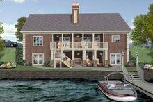 Craftsman Exterior - Rear Elevation Plan #56-719