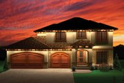 Mediterranean Style House Plan - 4 Beds 2.5 Baths 2189 Sq/Ft Plan #70-1095 Exterior - Front Elevation