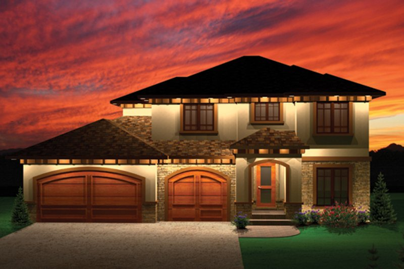 Mediterranean Exterior - Front Elevation Plan #70-1095 - Houseplans.com