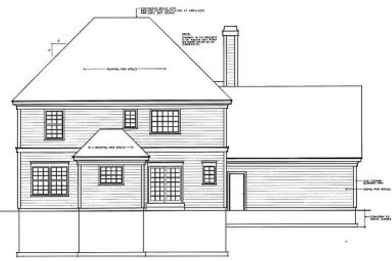 Colonial Exterior - Rear Elevation Plan #93-209 - Houseplans.com