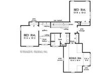 Craftsman Floor Plan - Upper Floor Plan Plan #929-1082