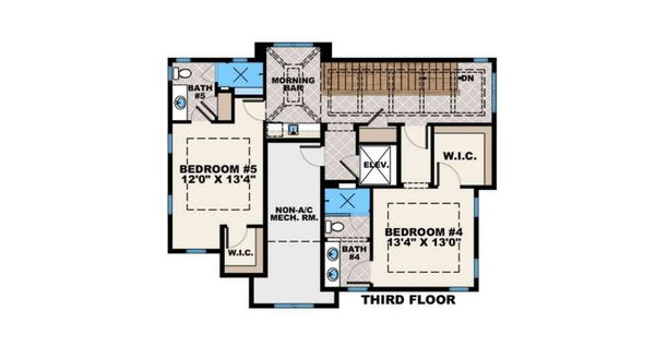 Beach Floor Plan - Other Floor Plan Plan #27-557
