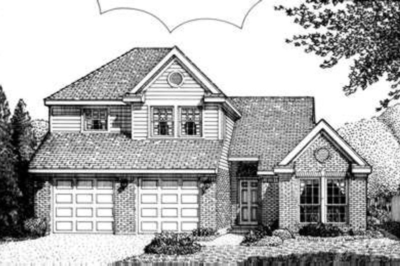 European Exterior - Front Elevation Plan #410-308 - Houseplans.com