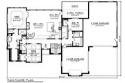 Craftsman Style House Plan - 2 Beds 3 Baths 2727 Sq/Ft Plan #70-1486 Floor Plan - Main Floor